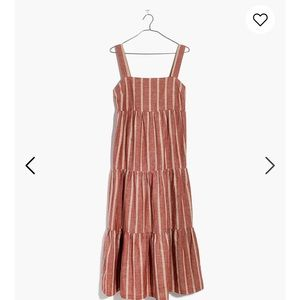 Seamed Midi Dress in Stripe(runs large)